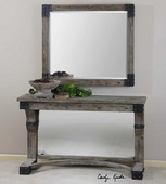 Nelo Weathered Wood Mirror  - LUT6480