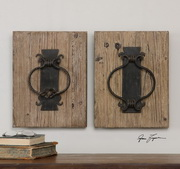 Rustic Door Knockers Wall Art  - LUT7553