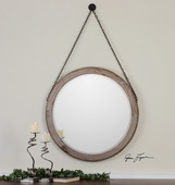 Loughlin Round Wood Mirror  - LUT6492