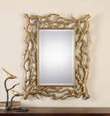 Sequoia Gold Tree Branch Mirror - LUT1091