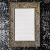 Fortuo Mahogany Wood Mirror