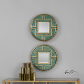 Amina Round Mirrors Set of 2