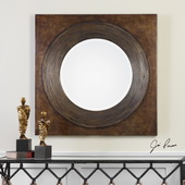 Eason Golden Bronze Round Mirror - LUT4829