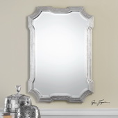 Halima Silver Step Mirror - LUT4839