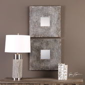Altha Burnished Square Mirrors Set of 2 - LUT4865
