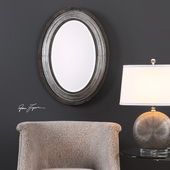 Galina Iron Oval Mirror - LUT4889