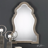 Carroll Aged Gray Arch Mirror - LUT4897