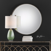 Stefania Beaded Round Mirror - LUT4931