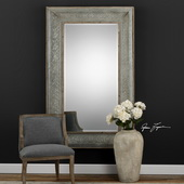 Bianca Aged Gray Mirror - LUT4937