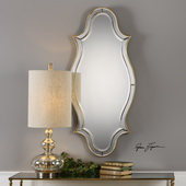 Donatella Curved Sided Gold Mirror - LUT4947