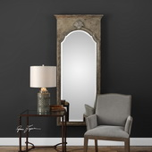 Nevola Antiqued Silver Mirror - LUT4951
