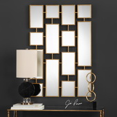 Kennon Forged Gold Rectangles Mirror - LUT4961