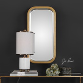 Senio Metallic Gold Wall Mirror - LUT4965
