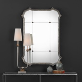 Lesina Hammered Silver Mirror - LUT4977