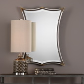 Verity Brushed Nickel Mirror - LUT4985