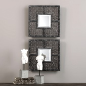 Gaiana Bronze Square Mirrors Set of 2 - LUT4989