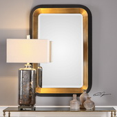 Niva Metallic Gold Wall Mirror - LUT5007