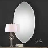 Ulla Scalloped Oval Mirror - LUT5011
