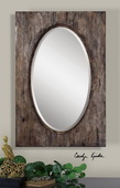 Hichcock Distressed Oval Mirror  - LUT5132