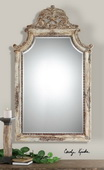 Portici Antique Ivory Mirror  - LUT5156