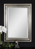 Stuart Silver Beaded Mirror  - LUT5262
