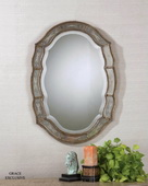 Fifi Etched Antique Gold Mirror  - LUT5280