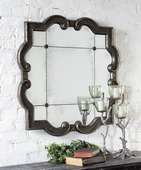 Prisca Distressed Silver Mirror  - LUT5290