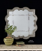 Prisca Distressed Silver Mirror Small  - LUT5314