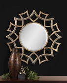 Demarco Round Antique Gold Mirror  - LUT5466