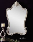Walton Hall Antique White Mirror  - LUT6574