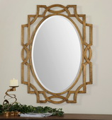 Margutta Gold Oval Mirror  - LUT6622