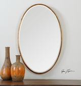 Herleva Gold Oval Mirror - LUT1135