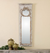 Casella Antiqued Ivory Wall Mirror - LUT1149