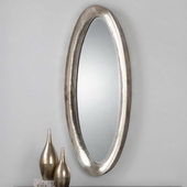 Copparo Silver Oval Mirror - LUT1227