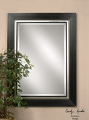 Whitmore Black Wood Mirror  - LUT5634