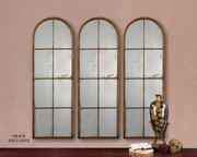Amiel Arched Brown Mirror 1 UNIT - LUT5718