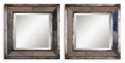 Davion Squares Silver Mirror - Two Mirrors Only  - LUT5814
