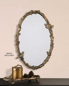 Paza Oval Vine Gold Mirror  - LUT5832