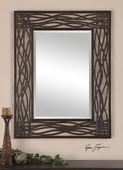 Dorigrass Brown Metal Mirror  - LUT5940