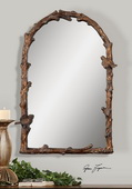 Paza Antique Gold Arch Mirror  - LUT5986