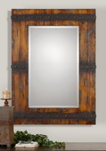Stockley Rustic Mahogany Mirror  - LUT6024