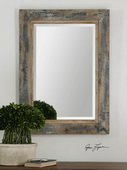 Bozeman Distressed Blue Mirror  - LUT6658