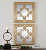 Piazzale Gold Square Mirrors   - LUT6696