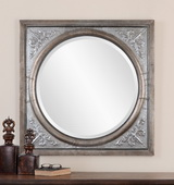 Ireneus Burnished Silver Mirror  - LUT6712