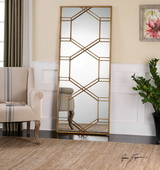 Kennis Gold Leaf Leaner Mirror - LUT1285