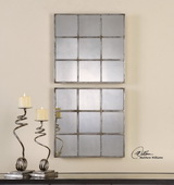 Derowen Squares Antique Mirrors S/2 - LUT1311