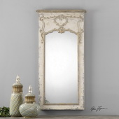 Carlazzo Antiqued White Mirror - LUT1317
