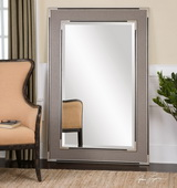 Alfred Oversized Gray-Tan Mirror  - LUT6774