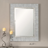 Belaya Gray Wood Mirror - LUT1355