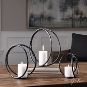 Pina Curved Metal Candleholders Set of 3 - LUT5129